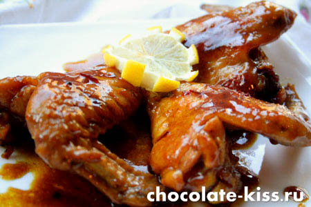 Курица с медом и соевым соусом