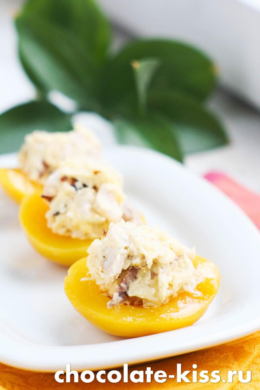 Персики с сыром