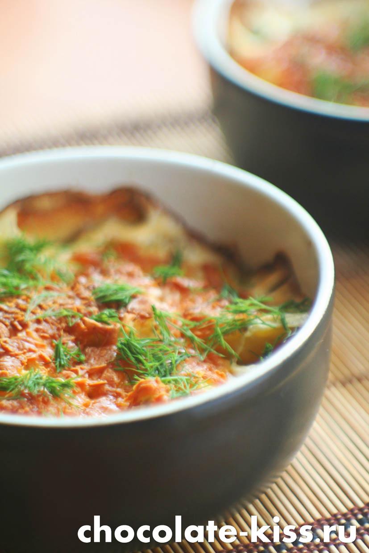 Картофель со сливками и сыром