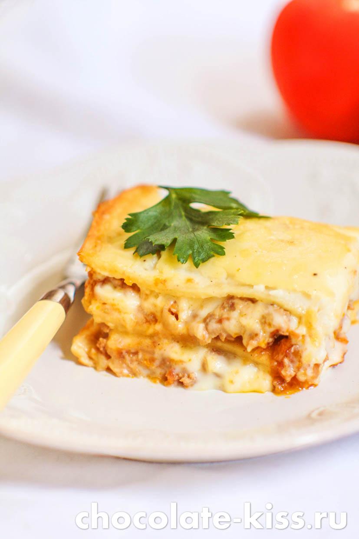 Лазанья с фаршем и сыром