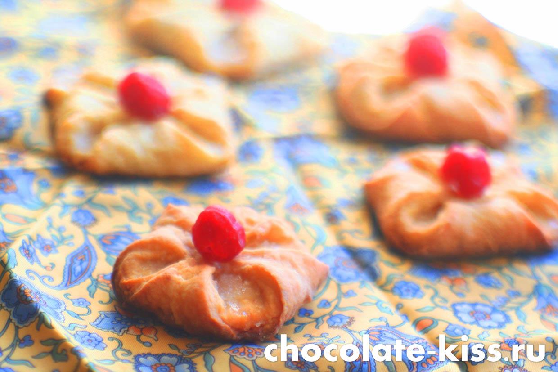 Творожное печенье «Конвертики» в сахаре