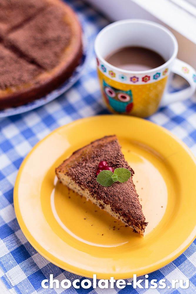 Пирог с маком и орехами