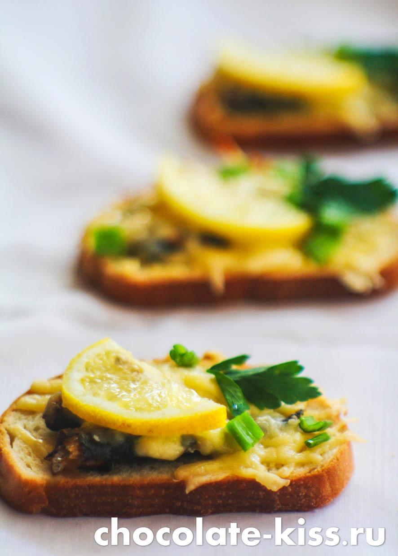 Горячие бутерброды со шпротами