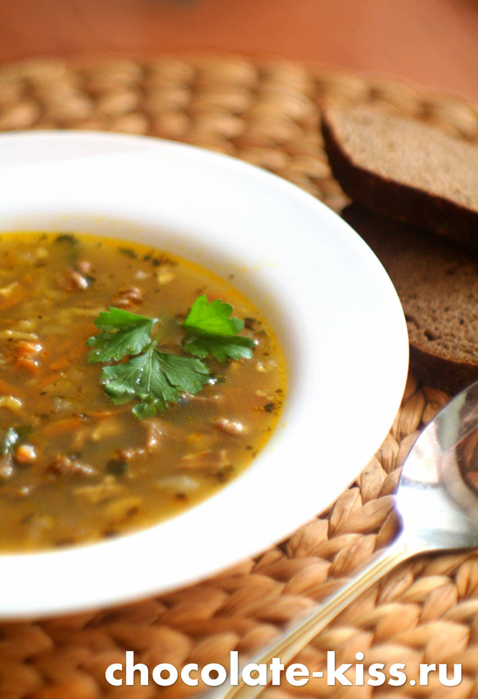 Классический суп харчо из говядины