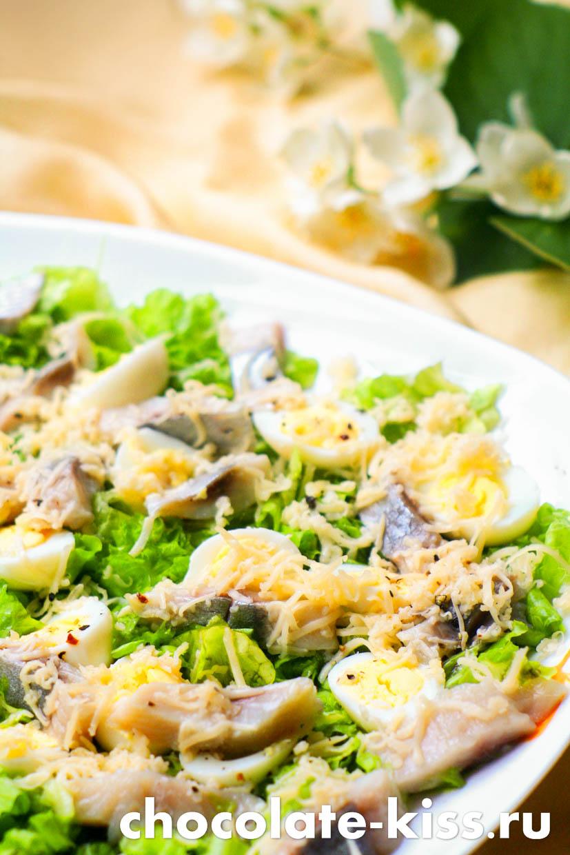 Салат с сельдью от Юлии Высоцкой