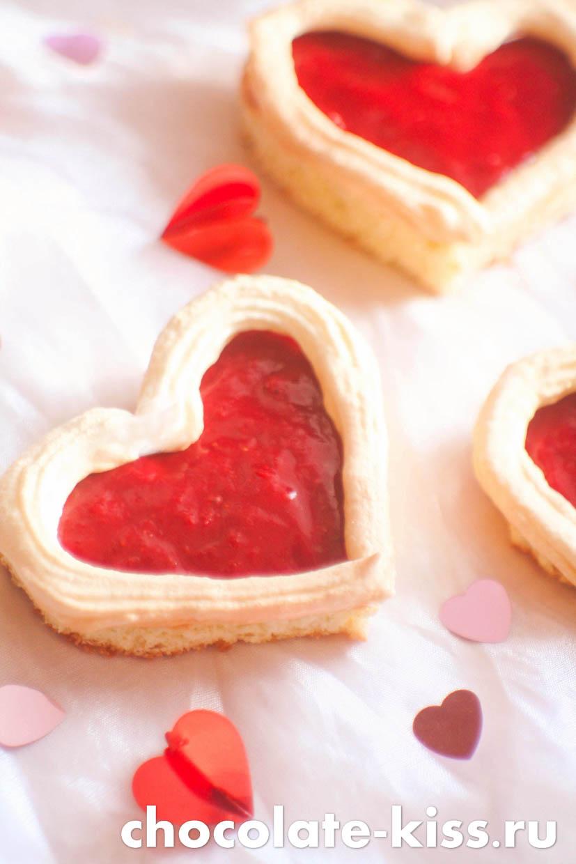 Пирожные «Сердечки»
