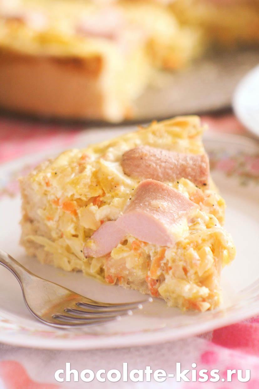 Пирог с кислой капустой