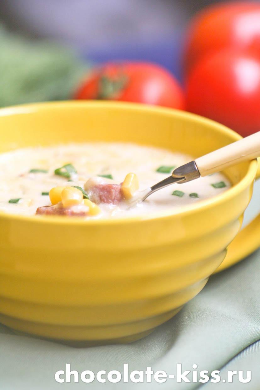 Суп с беконом сливками