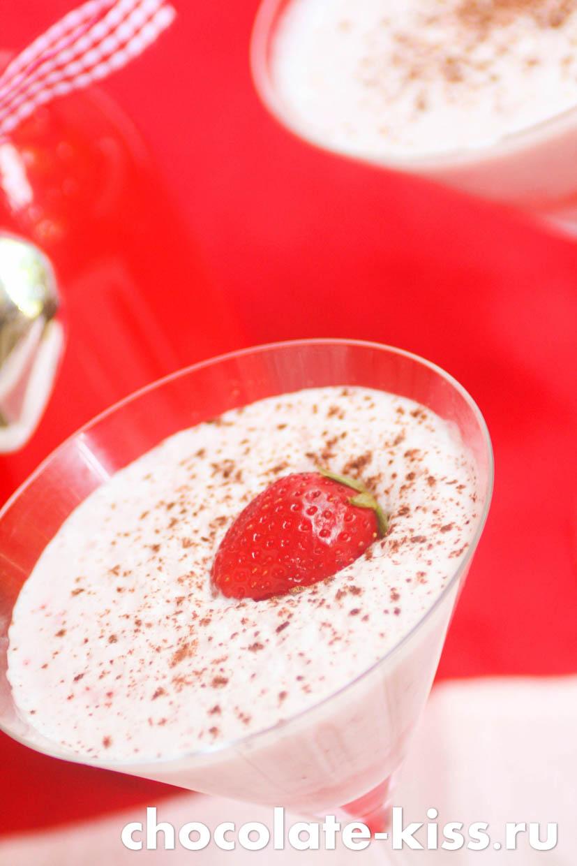 Клубничный коктейль с молоком