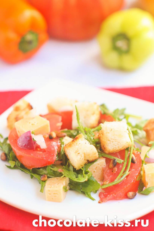 Салат из рукколы и феты