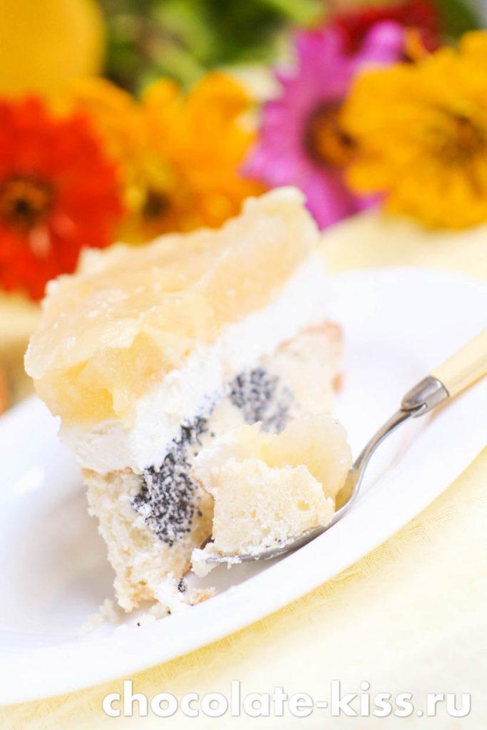 Творожно - маковый торт