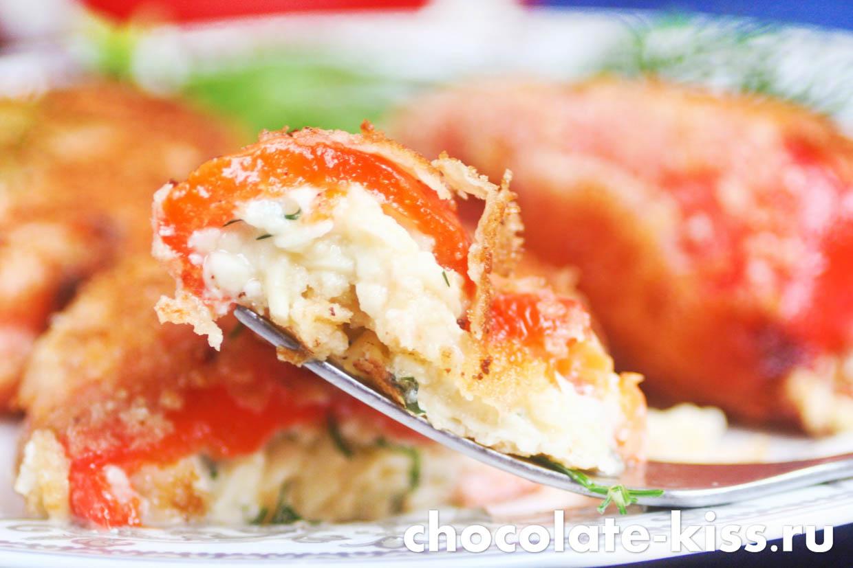 Фаршированные перцы с сыром в духовке