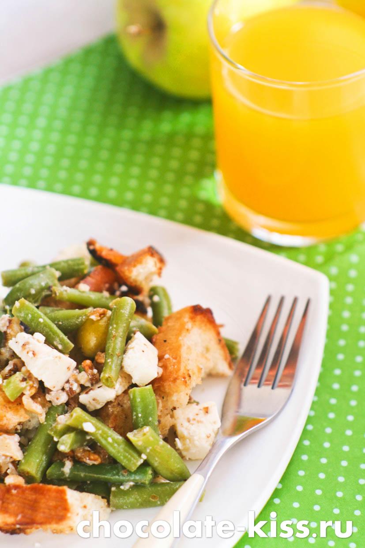 Вкусный салат со стручковой фасолью