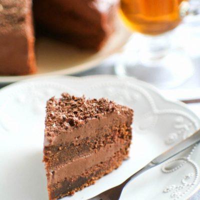 Простой домашний шоколадный торт