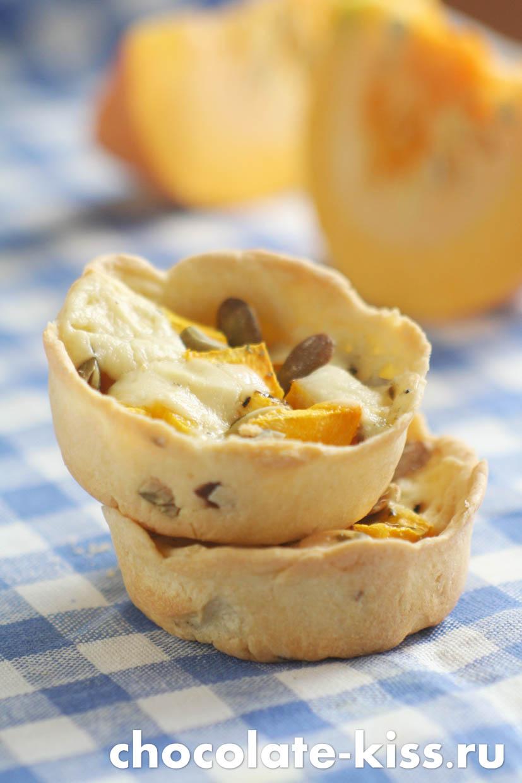 Пирог с тыквой и сыром