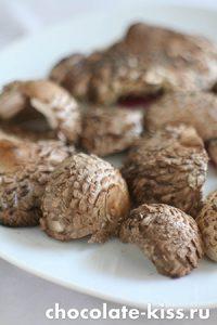 Блинчики с грибами и яйцом