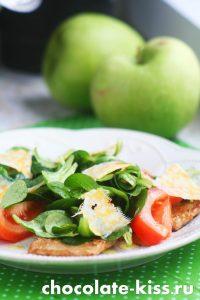 Легкий салат из помидоров