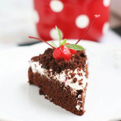 Шоколадный пирог с кремом