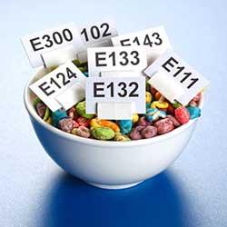 Таблица: пищевые добавки E