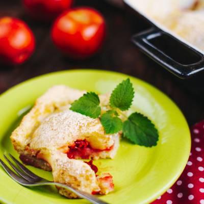 Яблочный пирог с творогом